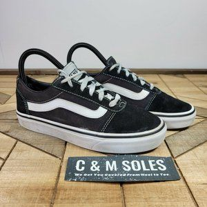 VANS Old Skool Low Skateboarding Shoes Black White Suede Canvas